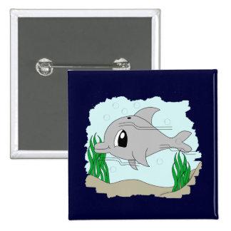 Botón lindo del delfín pin