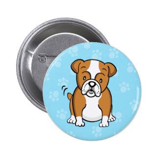Botón lindo del dogo del dibujo animado pin