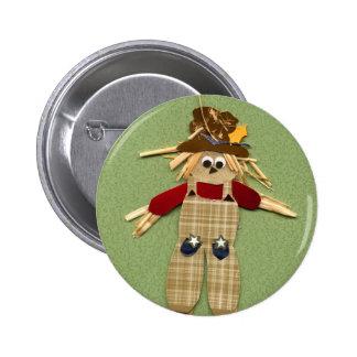Botón lindo del espantapájaros pin redondo de 2 pulgadas