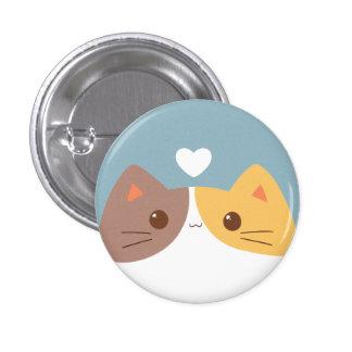 Botón lindo del gato pin redondo de 1 pulgada