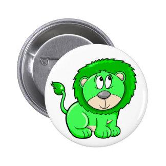 Botón lindo del león del safari pin redondo de 2 pulgadas