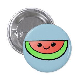 Botón lindo del melón pin redondo de 1 pulgada