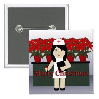 Botón lindo del navidad de la enfermera 2