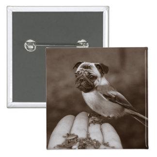 Botón lindo del pájaro del barro amasado de la sep pins