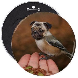 Botón lindo del pájaro del barro amasado pin redondo de 6 pulgadas