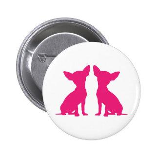 Botón lindo del perro rosado de la chihuahua pern pins