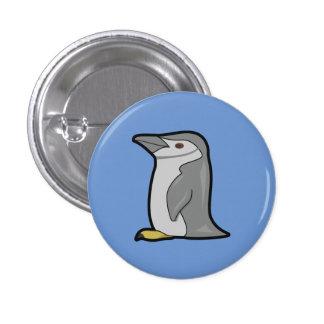 Botón lindo del pingüino pin redondo de 1 pulgada