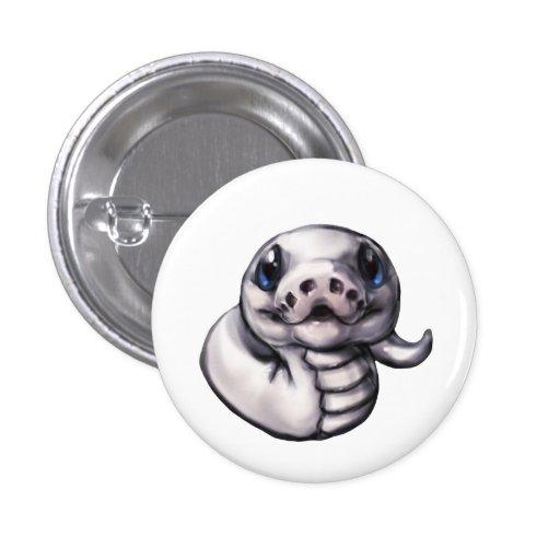 Botón lindo del pitón de la bola del bebé (Leucist Pins