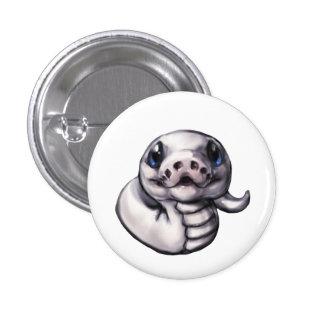 Botón lindo del pitón de la bola del bebé (Leucist Pin Redondo De 1 Pulgada