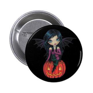Botón lindo del vampiro de Halloween del Pin Redondo De 2 Pulgadas