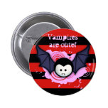 Botón lindo del vampiro pin