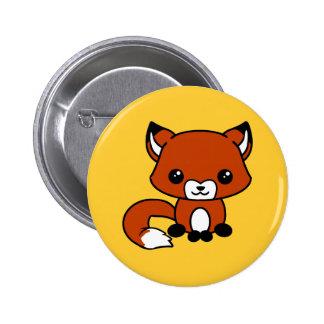 Botón lindo del zorro pin redondo de 2 pulgadas
