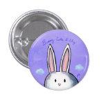 Botón lindo y tímido del conejito - púrpura pin