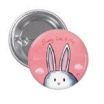 Botón lindo y tímido del conejito - rosa pins