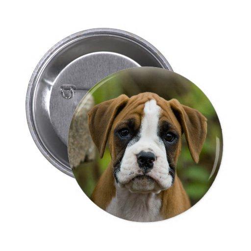 Botón llamativo de Pinback del perro de perrito de Pin
