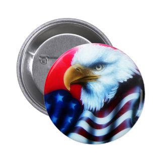 Botón lleno de American Eagle Pin Redondo De 2 Pulgadas