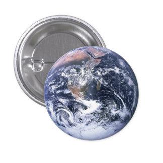 Botón lleno de la tierra pin redondo de 1 pulgada