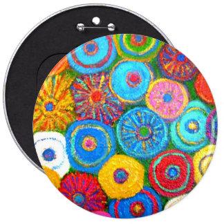 Botón lleno del círculo pin redondo de 6 pulgadas