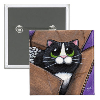 Botón lleno del gato de la caja O