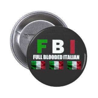 BOTÓN LLENO DEL ITALIANO DE BLOODED PIN