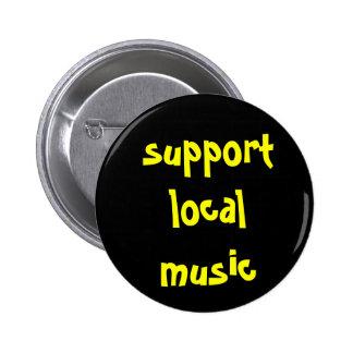 Botón local de la música de la ayuda pin