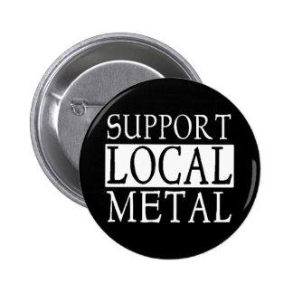 Botón local del metal