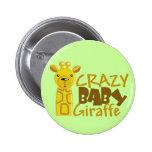 Botón loco de la jirafa del bebé pins