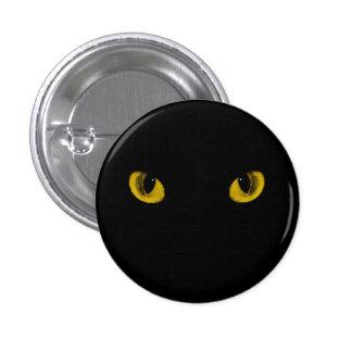 Botón loco de los ojos de gato pins