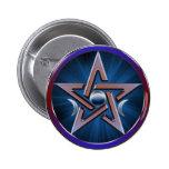 Botón lunar del Pentagram de la diosa Pin