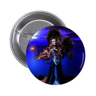 Botón mágico crepuscular de los chicas góticos