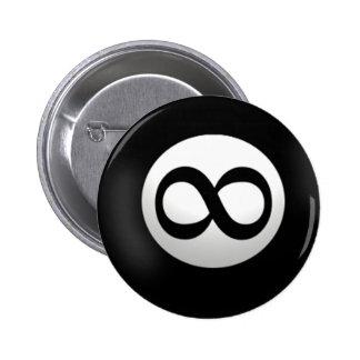 Botón mágico de la bola del infinito