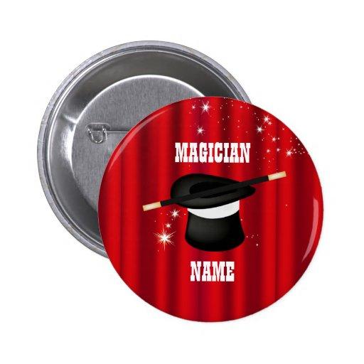Botón mágico del nombre del fiesta del mago