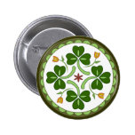 Botón - maleficio irlandés de la buena suerte pin