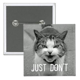 Botón malhumorado del gato pins