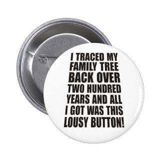 Botón malísimo pin redondo de 2 pulgadas