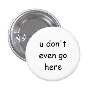 Botón malo de los chicas pin redondo de 1 pulgada