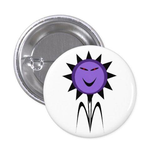 Botón malvado de Halloween del gótico de Kawaii de Pin Redondo De 1 Pulgada