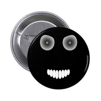 Botón malvado de la sonrisa pin redondo de 2 pulgadas