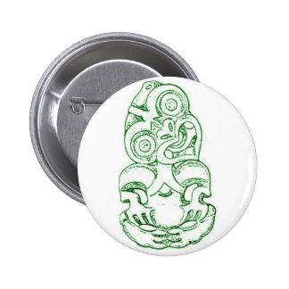 Botón maorí del bosquejo de Hei-Tiki Pin