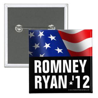 Botón marcado en negrita de Romney de Ryan Pins