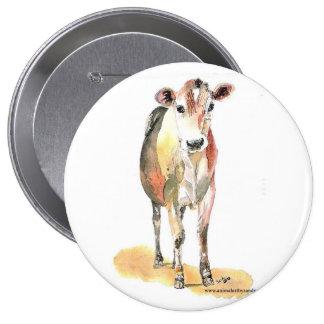 botón marrón de la vaca pins