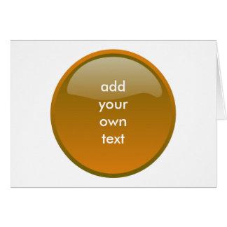 botón marrón tarjeta de felicitación