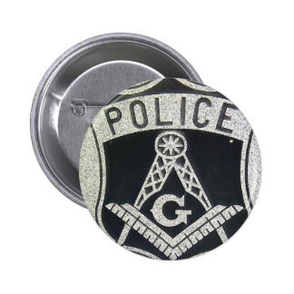 Botón masónico de la policía pin redondo de 2 pulgadas