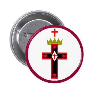 Botón masónico de la sociedad de Rosicrucian Pin Redondo De 2 Pulgadas