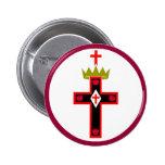 Botón masónico de la sociedad de Rosicrucian Pins
