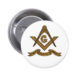 Botón masónico del emblema de la caridad de la esp pin redondo de 2 pulgadas