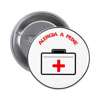 Bóton Medico: Alergia a Peixe Pinback Button