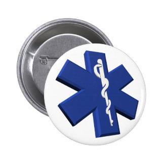 Botón médico del símbolo pins