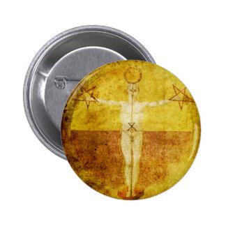 Botón medieval del icono de Magik Pin Redondo De 2 Pulgadas