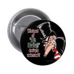 Botón medio de Scrooge Pinback (negro)